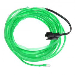 2 Meter Car EL Wire Neon Orange Green Glow Light with Car Charger