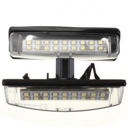 2PCS 18 SMD LED Number License Plate Light For LEXUS
