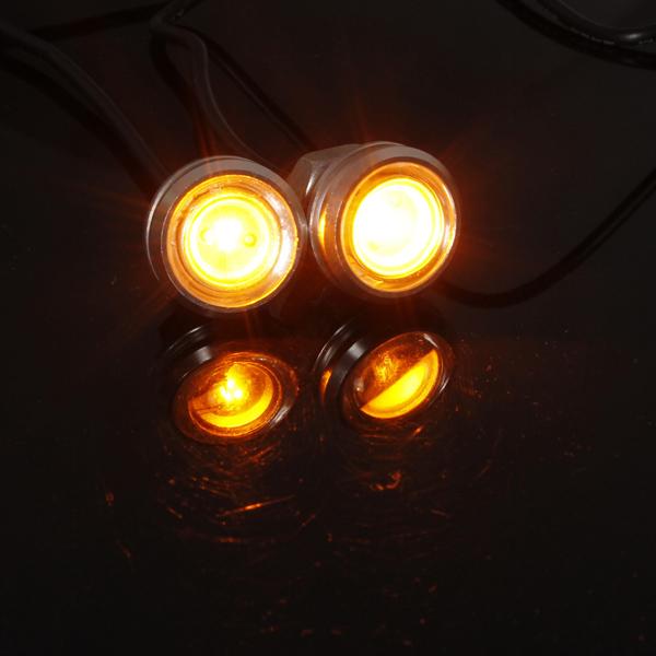2st Bil 3W LED Eagle Eye DRL Bakljus Backup Lampa Bilbelysning
