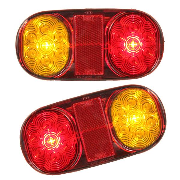2ST LED Rück Trailer beleuchtet für LKW Boots Ute Tauch No / Platte Autobeleuchtung