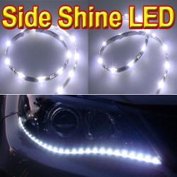 "2PC Vit 12 "" 15 LED Sid Shine DRL Strålkastare Strips"