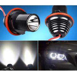 2Pcs Car LED Cree Angel Eye Halo Light Bulb for BMW 5 6 7 Series