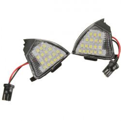 2Pcs Car LED Under Side Mirror Puddle Light for VW Golf 5 Mk5