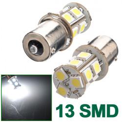 2X 1156 BA15S Bil 5050 SMD 13 LED Hvid Markeringslygte Pæree