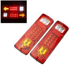 2X 12V 19 LED Auto LKW Rücklicht Kontrollleuchte Gelb
