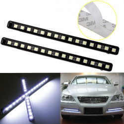 2X 15 LED SMD 5050 DRL Daytime Running Lights Xenon Fog Lights Driving