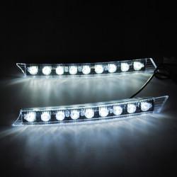 2 X Bil LED-lampa Varselljus Long Bright 6W 12V