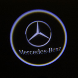 2 X Cree LED Super Cool Car Door Laser Welcome Lights for Benz