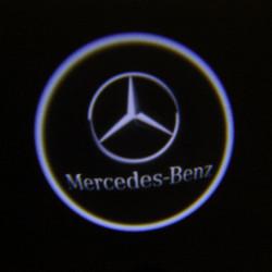 2 X Cree LED Supercool Bildörr Laser Välkommen Lampor för Benz