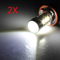 2X H11 CREE 7W 5630 LED Tågelygte Pære High Power Xenon Hvid