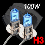 2 x H3 XENON weißes Scheinwerfer Birnen Auto Licht Lampe 100W Autobeleuchtung