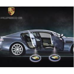 2 X Laser Logo LED Dörr Ghost Shadow Välkommen Ljuss för Porsche