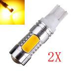 2 X T10 T15 7,5 W COB LED Cree Q5 Fordon Signal Coda Turn Lampa Bilbelysning