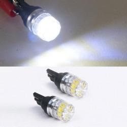 2X White T10 5050 SMD LED Car Side Tail Light Bulbs 12V
