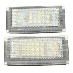 2st 18 LED License Nubmer Plate Ljuss Lampa för Mini Cooper S R50