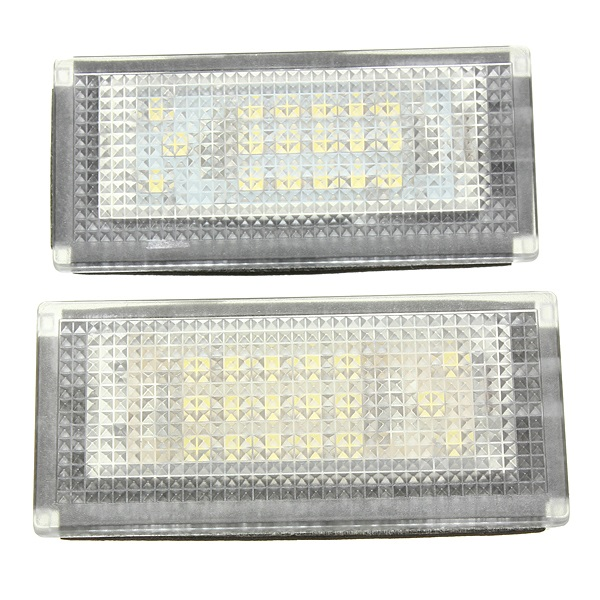 2stk 18 LED Nummerpladelys Lamp for Mini Cooper S R50 Bilbelysning