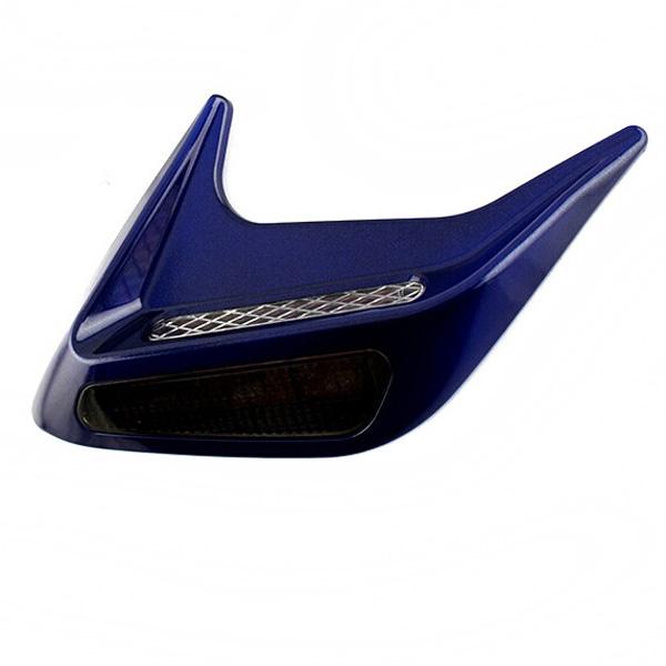 2pcs Solar Shark Gills Outlet Car Strobe LED Safety Warning Lights Car Lights
