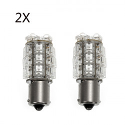 2x 1156 1.5W 18 Flux LED Bil Turn Ljus Lampa Gult Ljus