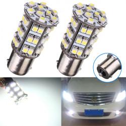 2 X 1156 45 LED 3528 SMD 6000K Pure Vit Interior Glödlampor