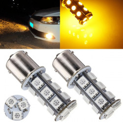 2 x 1156 BA15S 18SMD 5050 LED Car RV Trailer Turn Tail Lamp Bulbs