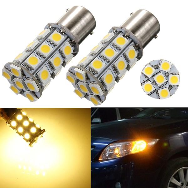 2 x 1156 BA15S P21W 27 SMD 5050 LED RV Auto Licht Lampen Birne 12V Autobeleuchtung