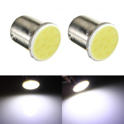 2 x 12V 1157 BAY15D 12 SMD COB White Car Brake Parking Light Bulbs