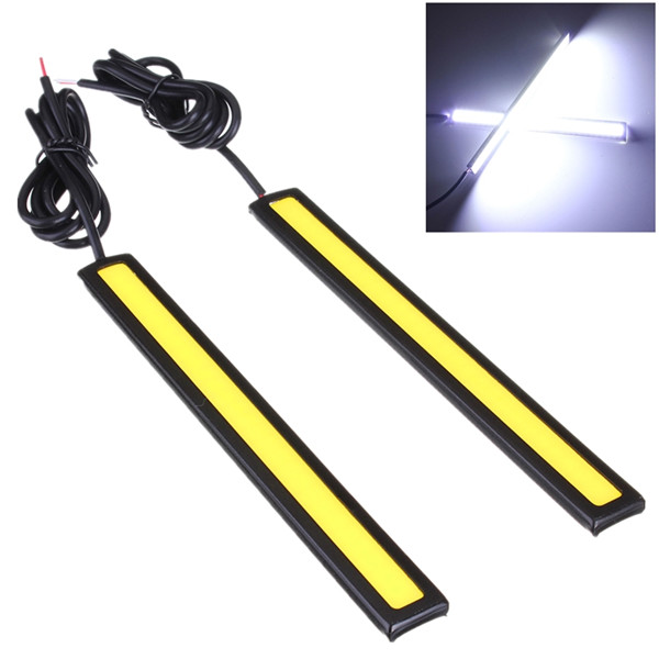 2x 12V LED COB Auto Car Driving Daytime Running Light DRL Fog Lamp Car Lights