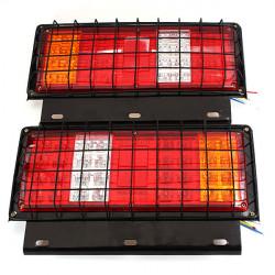 2x 12v LED Stop Tail Lamps Lights for Trailer Car Truck Van Ute