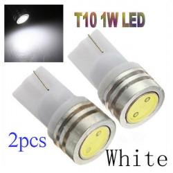 2x1W T10 168 194 DC 12V LED SMD Wedge Ljus Lampa Vit