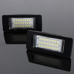 2x 24 LEDs Bil License Nummerpladelys Lys til VW Jetta MK6
