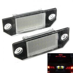 2x 24LEDs License Nummerplåtsbelysninglampor för Ford Focus C-MAX 03-07