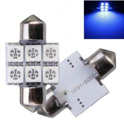 2 x 31mm C5W 5050 SMD 6 LED Girlande Karte Innenbereich Anzahl Glühbirnen