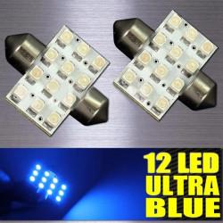 2 x 31mm 12SMD 3528 LED Map Interior Dome Festoon Light Bulbs