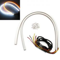 2 x 60cm Weiß Bernstein Switchback Scheinwerfer LED Streifen DRL 12V