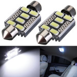 2 x 6SMD 6418 C5W Error Free LED Bulbs For Car License Plate Lights Car Lights
