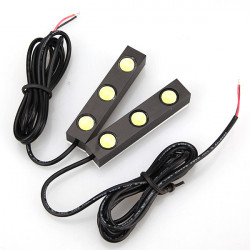 2x 6W 3-LED High Power Tail Back Up Reverse Light Lamp
