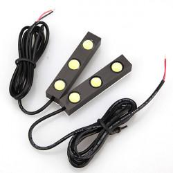 2x 6W 3 LED Leistungs Endstück Aushilfsrückseiten Licht Lampe