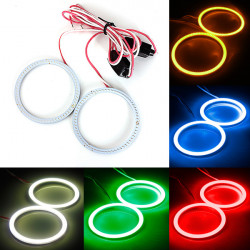 2 X 80mm 93LED CCFL Headlight COB Angel Eyes Halo Ring Lampa