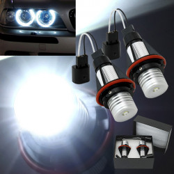 2x BMW E39 E53 Bil Angel Eye LED Halo Lamper 5 W