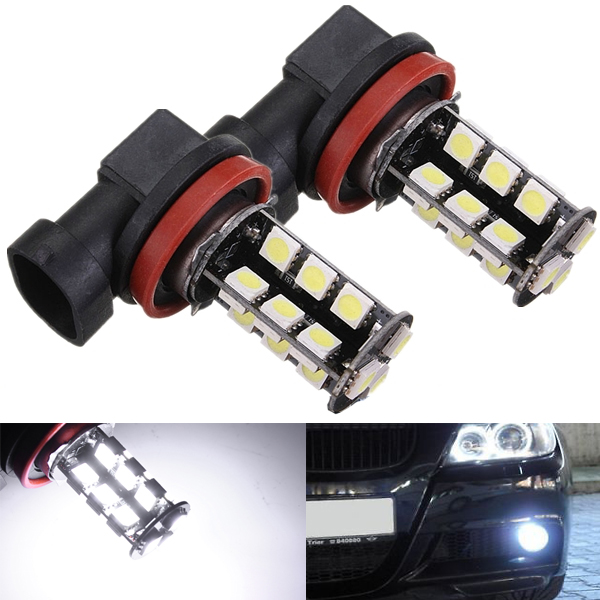 2 x CANBUS fehlerlose H11 Auto LED 27SMD 5050 Super White Light Bulbs Autobeleuchtung