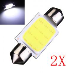 2 x COB LED Auto Girlande 36mm C5W Wedge Innenleuchten