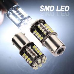 2xCar 1156 BA15S Reine 44 SMD LED Endstück Bremsen Innenbirnen