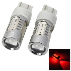 2x Bil Broms Bakljus T20 7443 11W 12V 350lm 625nm 5LED Red Ljus