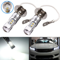 2 x H3 10W High Power 2323 SMD 10 LED Bulb Fog Driving Head Lights
