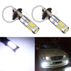 2 X H3 12V 7,5 W COB LED-ljus Super Vit Strålkastare Dimljus