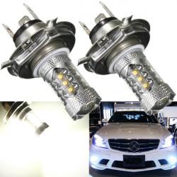2 x H4 80W Cree LED White Tail Turn Brake Head Car Light Bulbs
