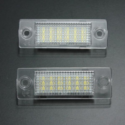 2x LED License Number Plate Light for VW Caddy T5 Golf Passat
