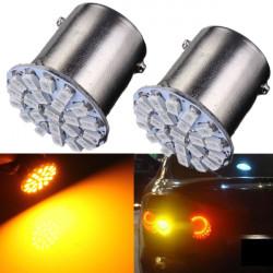 2 X P21W 1156 22-SMD LED Bil Tail Turn Signal Glödlampor