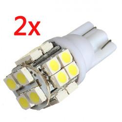 2xPure Vit T10 1210 20SMD LED Lampa för Alla Lägg Bil Wide-användning