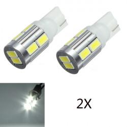 2x T10 10SMD 5630 LED Canbus Standlicht Rücklicht Birnen weißer